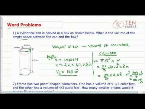 Volume of Cylinders and Prisms - Applications