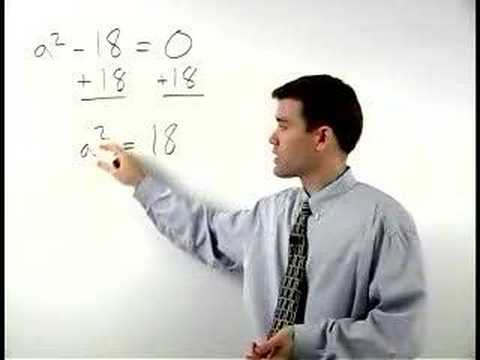 Solving Quadratic Equations by the Square Root Method