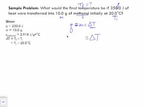 Specific Heat Capacity Sample Problem 2