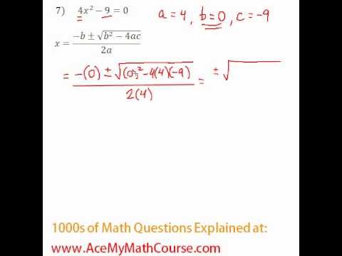 Quadratic Formula #7