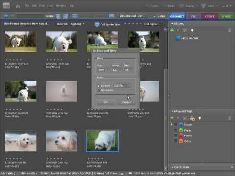 Photoshop Elements 7 Tutorial Video Adjusting Photo Dates