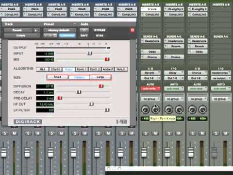 Pro Tools 9 Tutorial - Automating Plugin Parameters