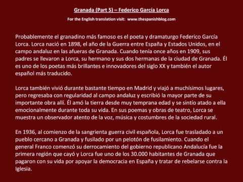 Spanish English Parallel Texts Granada (Part 5) Federico García Lorca