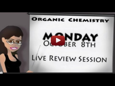 October Organic Chemistry Live Review with Leah4sci