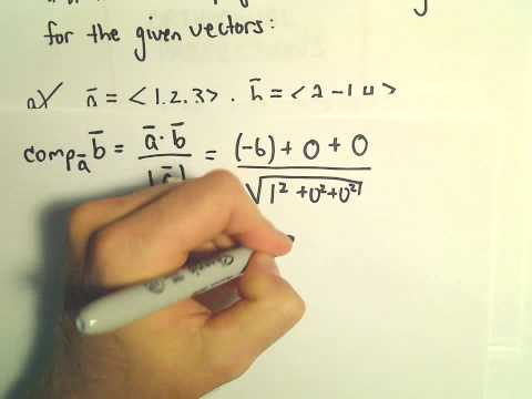Orthogonal Projections - Scalar and Vector Projections - Example 2
