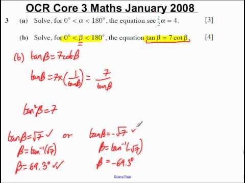 Q3(b) Core 3 OCR Maths January 2008.mp4