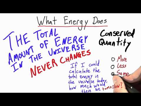 What Energy Does Solution - Intro to Physics - Work and Energy - Udacity