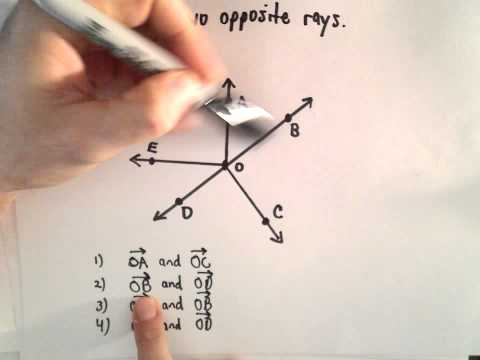 Rays : Identify Opposite Rays ( Geometry )