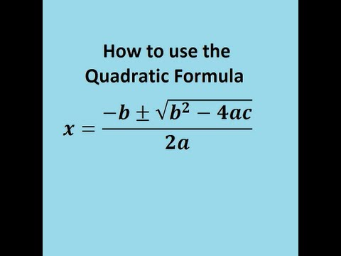 The Quadratic Formula and solving quadratic equations easily - GCSE or AS maths revision video