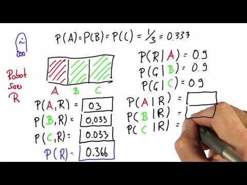 Robot Sensing 8 - Intro to Statistics - Bayes Rule - Udacity