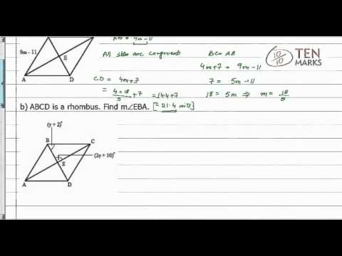 Properties of a Rhombus