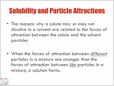 Three Factors Affecting Dissolving Part 1