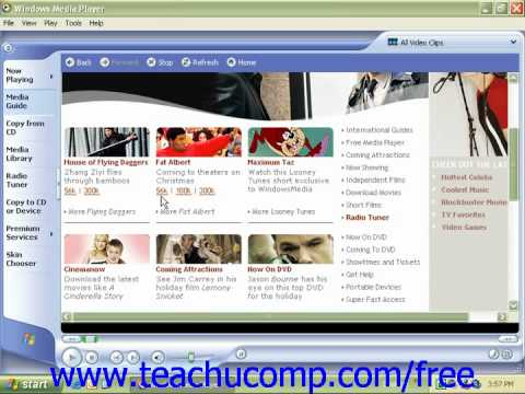 Windows XP Tutorial Watching Movies Microsoft Training Lesson 9.2