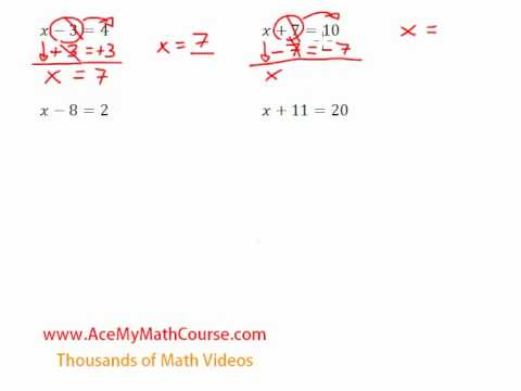 One-Step Equations (Addition & Subtraction) - Introduction