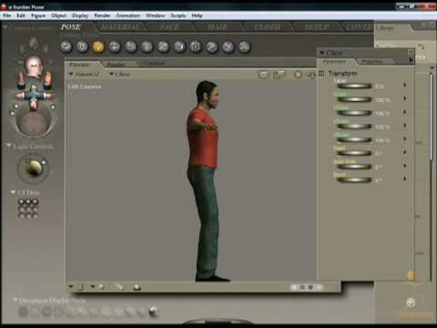 Poser 7 Tutorial - Camera Properties and Views