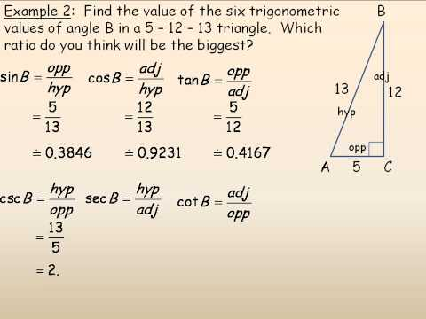 Trigonometric Ratios of Acute Angles Part 2