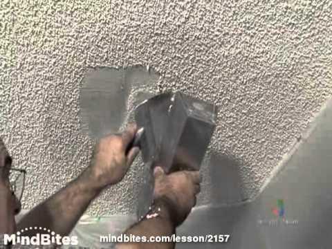 Repairing Popcorn Texture - Drywall Repair