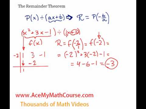 Remainder Theorem - Introduction