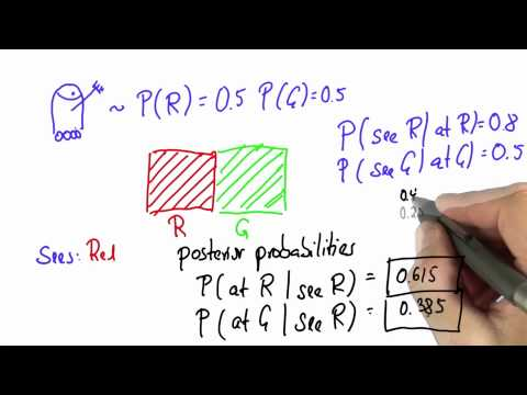Robot Sensing 3 Solution - Intro to Statistics - Bayes Rule - Udacity