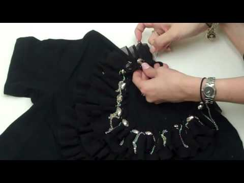Ruffle Collar Tee by New York  Design Shop