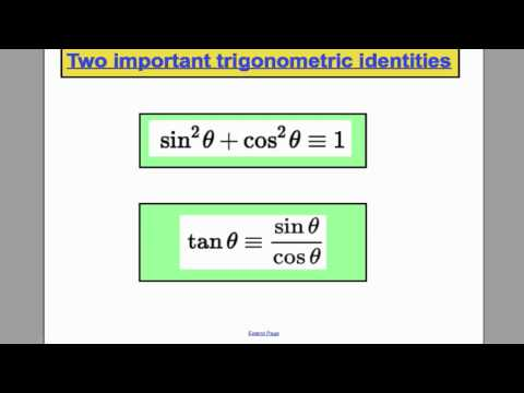 Trigonomtery Revision - Core 3 Edexcel Maths A-Level