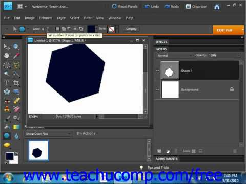 Photoshop Elements 9.0 Tutorial Using the Shape Tools Adobe Training Lesson 12.3