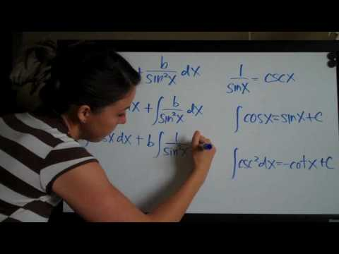Trigonometric Integrals Example 4