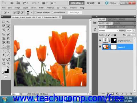 Photoshop CS5 Tutorial Masking Layers Adobe Training Lesson 10.4