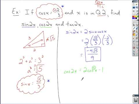 Trigonometry - Double Angle Formulas