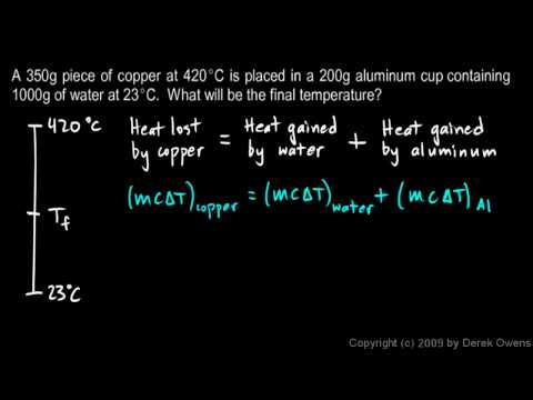 Physics 9.09h -  Calorimetry Example 3