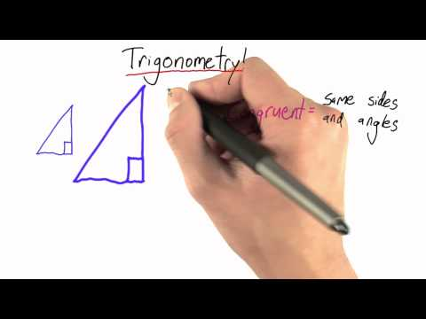 Similar Triangles - Intro to Physics - Circumference of Earth - Udacity