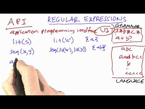 Regular expressions - CS212 Unit 3 - Udacity