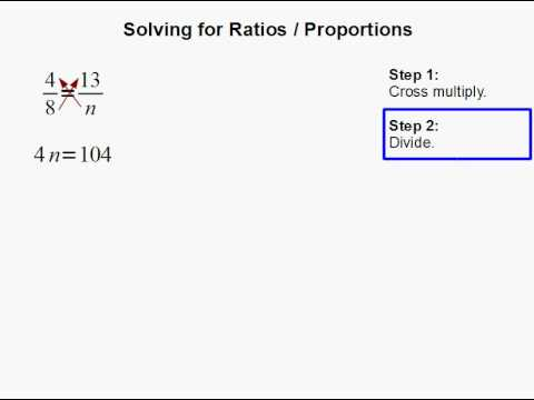 Solving for Ratios / Proportions