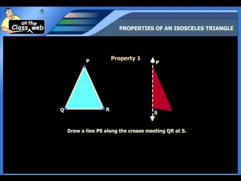 Properties of an isosceles triangle