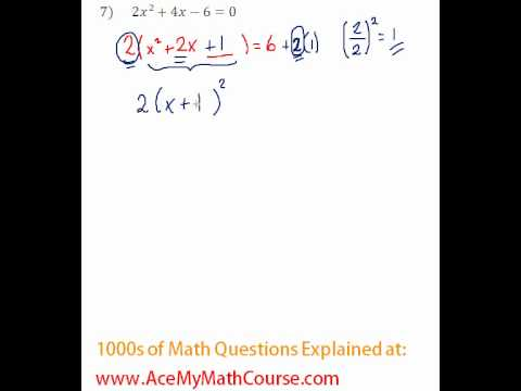 Solving by Completing the Square #7