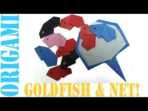 Origami Daily - 310:Easy Goldfish & Net - TCGames [HD]