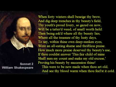 Sonnet 2 ~ William Shakespeare ~ with text