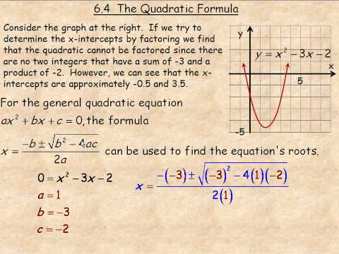 The Quadratic Formula Part 1
