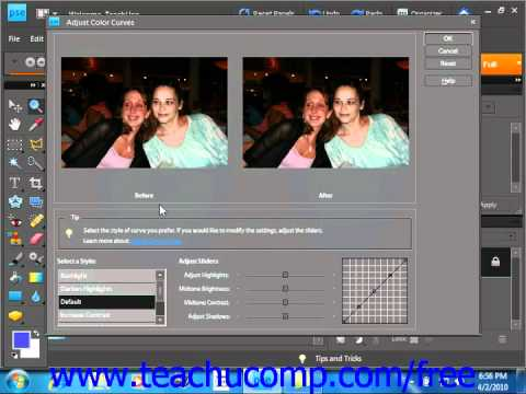 Photoshop Elements 9.0 Tutorial Color Curves Adobe Training Lesson 14.10