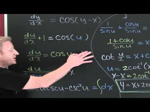 Solve Separable DEs using Substitution.mov
