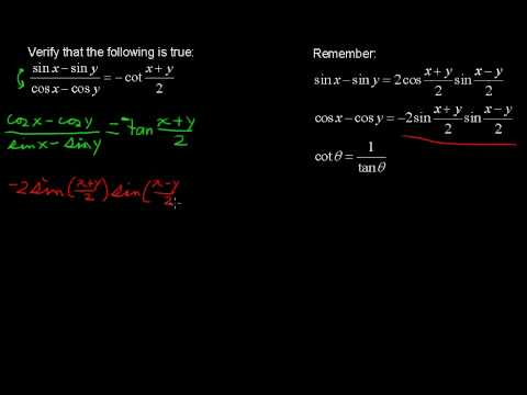 Various Trigonometric Identities - Precalculus Tips