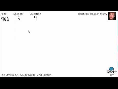 SAT Math Official Guide Sample Lesson (1/6)