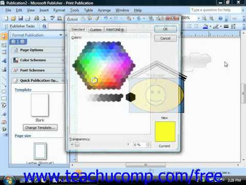 Publisher 2003 Tutorial Ungrouping Objects for Editing Microsoft Training Lesson 6.8