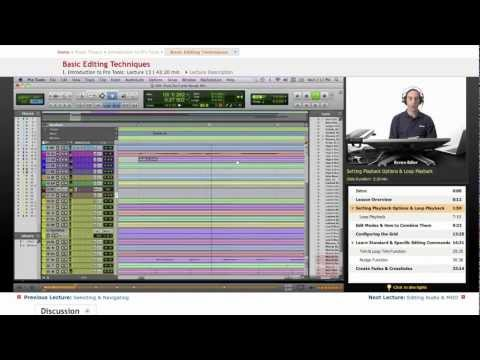 Pro Tools: Basic Editing Techniques