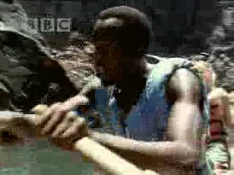 White water rafting on the Zambezi river - BBC