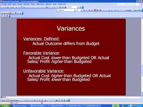 Cost Accounting Eight- Contribution Margin