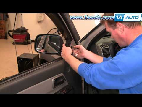 How To Replace Install Side Rear VIew MIrror Chevy Colorado 2004-2012