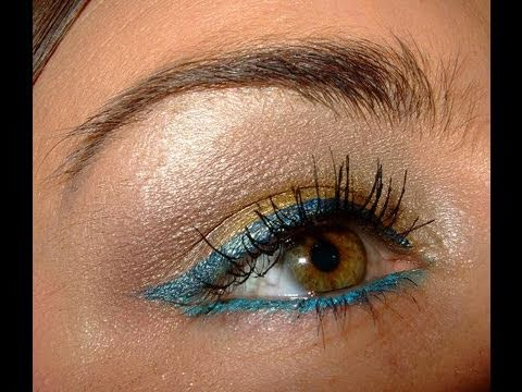 Blue Metal & Gold make up tutorial