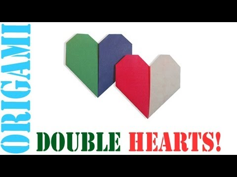 Origami Daily - 188: Double Heart (Valentine's Day) - TCGames [HD]