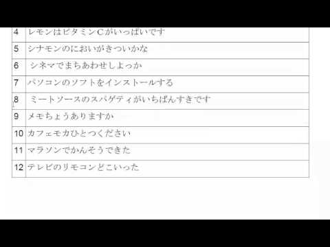 Learn Katakana - Reading 8
